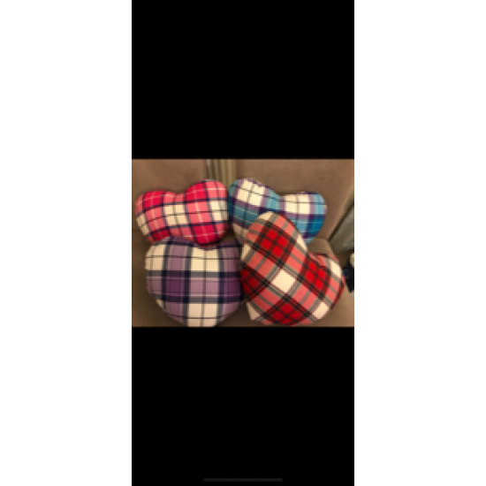 Tartan Heart Cushion
